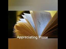 APPRECIATING PROSE